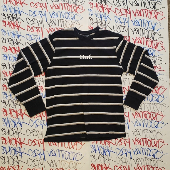 HUF Other - HUF Striped Longsleeve Shirt XL